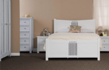MacIntosh bedframe - White & light Grey finish - Single/Double/King